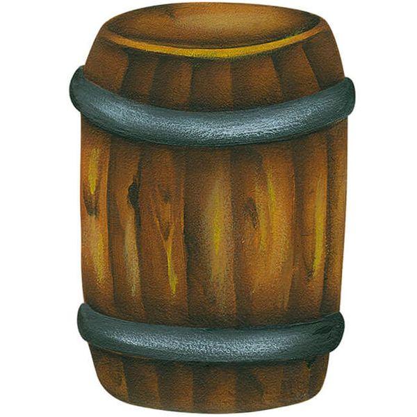 Aplique-Decoupage-Litoarte-APM8-1195-em-Papel-e-MDF-8cm-Barril