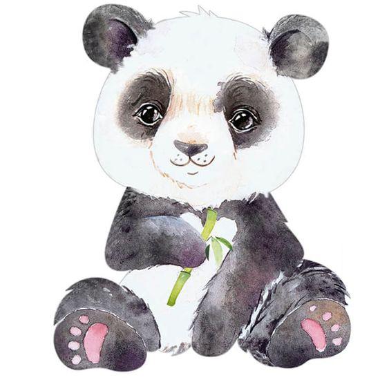 Aplique-Decoupage-Litoarte-APM8-1265-em-Papel-e-MDF-8cm-Panda-Bambu