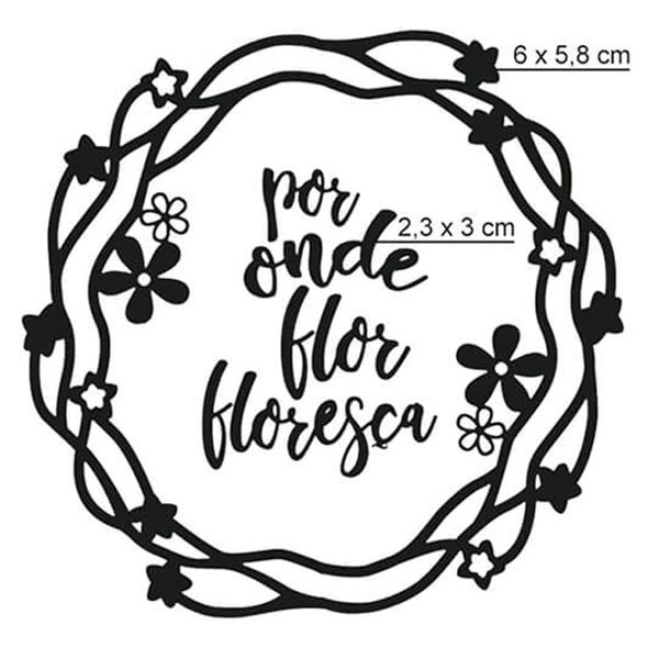 Carimbo-de-Borracha-Litoarte-CLP-179-Guirlanda-Por-Onde-Flor-Floresca