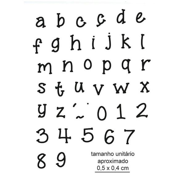 Carimbo-de-Borracha-Litoarte-CLP-187-Alfabeto-Minusculo-e-Numeros