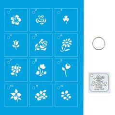 Kit-Stencil-Mini-Litoarte-com-14-pecas-45cm-STMI-004-Flores