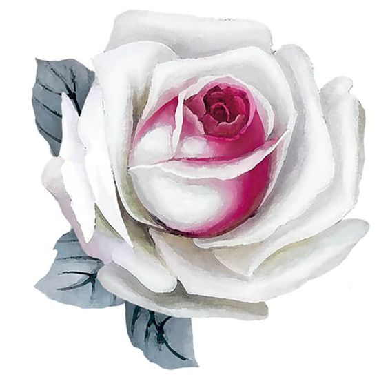 Aplique-Decoupage-Litoarte-APM8-1263-em-Papel-e-MDF-8cm-Rosa-Branca