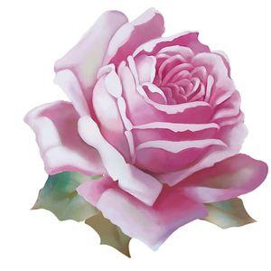 Aplique-Decoupage-Litoarte-APM8-1264-em-Papel-e-MDF-8cm-Rosa-Branca