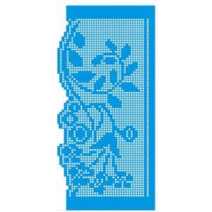 Stencil-Litoarte-25x125-STGE-011-Renda-File-de-Flores