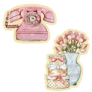 Aplique-Decoupage-Litoarte-APM4-410-em-Papel-e-MDF-4cm-Telefone-e-Flores
