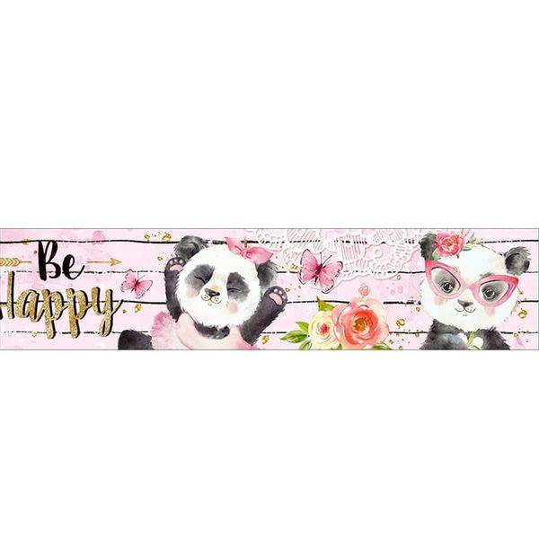 Barra-Adesiva-Litoarte-436x4cm-BDA-IV-818-Panda-Be-Happy