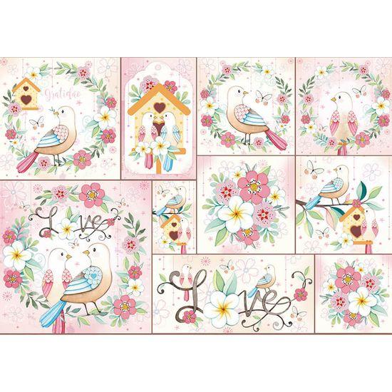 Papel-Decoupage-Litoarte-343x49-PD-1010-Passaros-Flores
