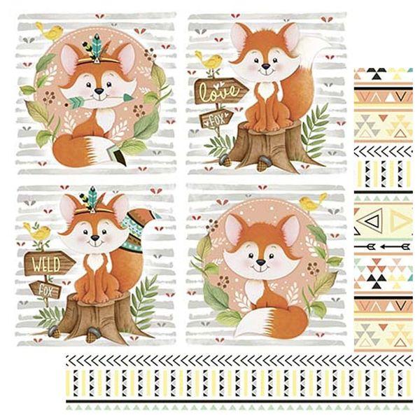 Papel-Scrapbook-Litoarte-305x305-SD-1084-Raposa