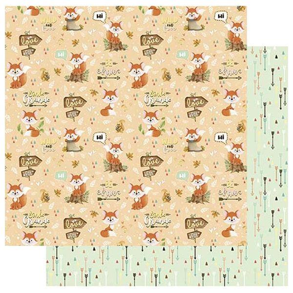 Papel-Scrapbook-Litoarte-305x305-SD-1085-Raposa