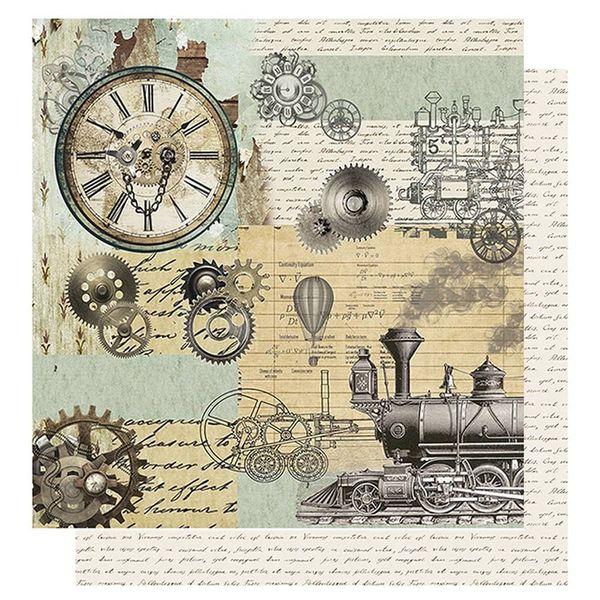 Papel-Scrapbook-Litoarte-305x305-SD-1070-Relogio-Engrenagem