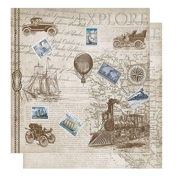 Papel-Scrapbook-Litoarte-305x305-SD-1074-Carros-Navio-e-Trem