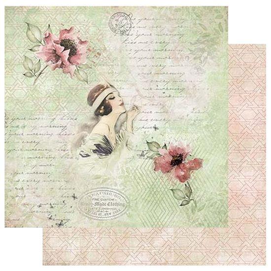 Papel-Scrapbook-Litoarte-305x305-SD-1055-Flores-Dama
