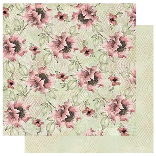 Papel-Scrapbook-Litoarte-305x305-SD-1057-Flores-Trama