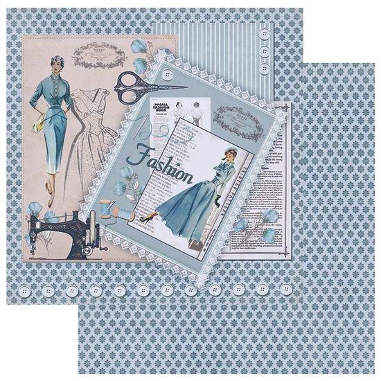 Papel-Scrapbook-Litoarte-305x305-SD-1064-Costura-Fashion