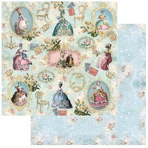 Papel-Scrapbook-Litoarte-305x305-SD-1068-Rainha-Rei-e-Molduras