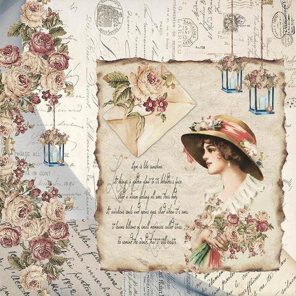 Papel-Scrapbook-Litoarte-305x305-SD-1090-Dama-e-Rosas