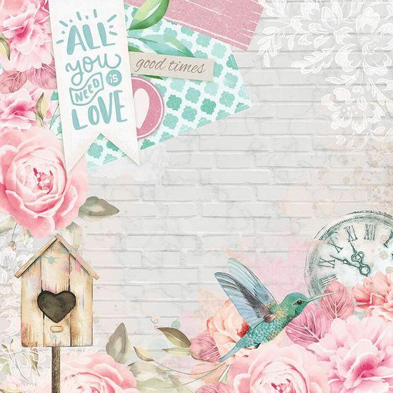 Papel-Scrapbook-Litoarte-305x305-SD-1091-Beija-Flor-Love