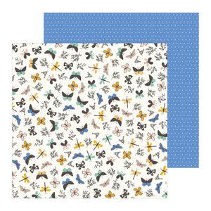 Papel-Scrapbook-WER253-305x305-Pebbles-Borboletas-e-Libelulas