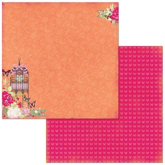 Papel-Scrapbook-WER268-305x305-Bo-Bunny-Flores-e-Gaiola