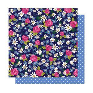 Papel-Scrapbook-WER296-305x305-Shimelle-Margaridas-e-Rosas