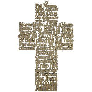 Aplique-em-MDF-Crucifixo-Oracao-Pai-Nosso-36x215cm---Palacio-da-Arte