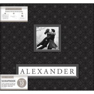 Album-para-Scrapbook-K-C-WER248-Black-Alexander-305x305-Preto