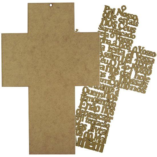 Placa-Decorativa-e-Aplique-em-MDF-Crucifixo-37x238cm---Palacio-da-Arte