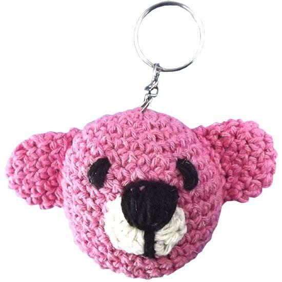 Chaveiro-de-Croche-Urso-8x5cm-Rosa---Palacio-da-Arte