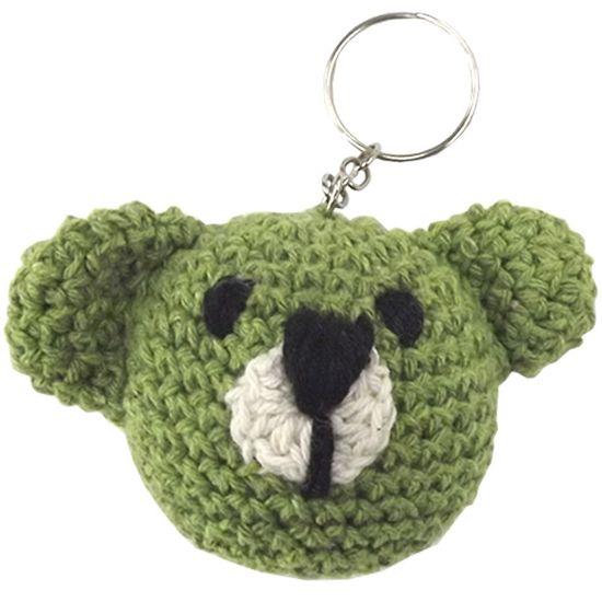 Chaveiro-de-Croche-Urso-8x5cm-Verde---Palacio-da-Arte