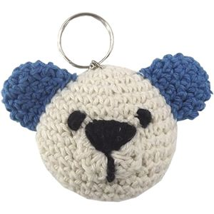 Chaveiro-de-Croche-Urso-8x5cm-Cru-e-Azul---Palacio-da-Arte