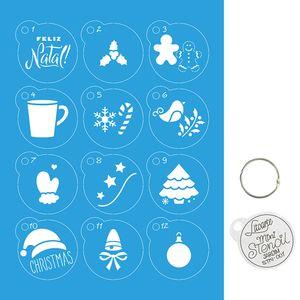 Kit-Stencil-Mini-Natal-Litoarte-com-14-pecas-45cm-STMIN-001-Pinheiro