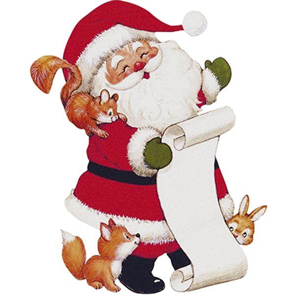 Aplique-Decoupage-Natal-Litoarte-APMN8-142-em-Papel-e-MDF-8cm-Papai-Noel