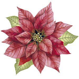 Aplique-Decoupage-Natal-Litoarte-APMN8-144-em-Papel-e-MDF-8cm-Poinsetia