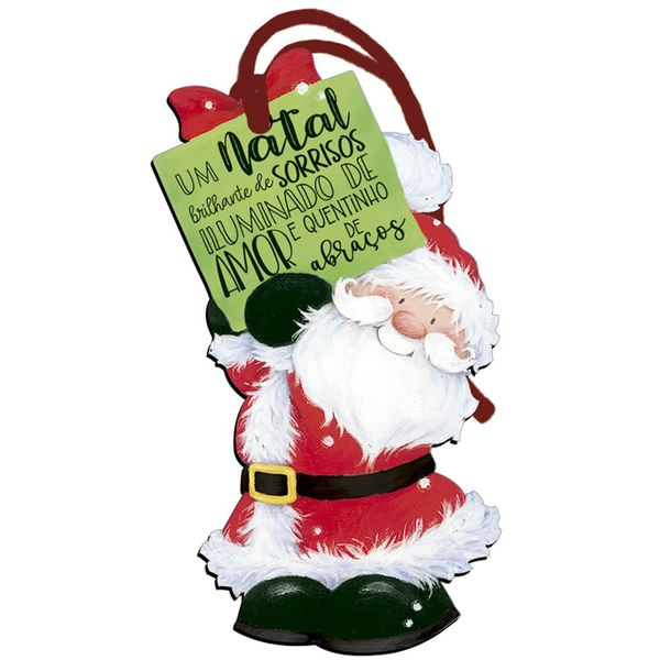 Placa-TAG-MDF-Decorativa-Natal-Litoarte-DHTN-016-143x82cm-Papai-Noel