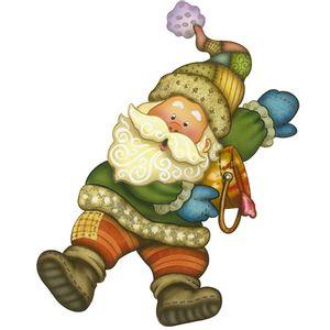 Aplique-Decoupage-Natal-Litoarte-APMN12-009-em-Papel-e-MDF-12cm-Papai-Noel