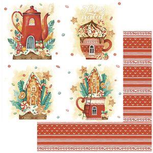 Papel-Scrapbook-Natal-Litoarte-305x305-SDN-132-Xicara-e-Bule