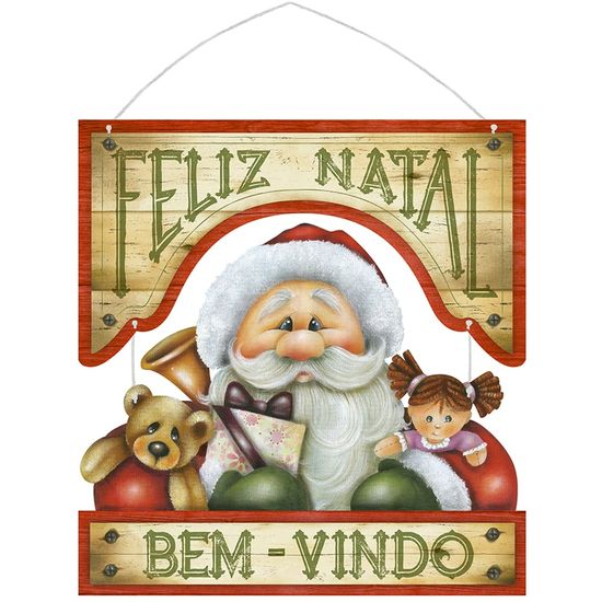 Placa-em-MDF-Natal-Litoarte-DHN-013-295x31cm-Papai-Noel