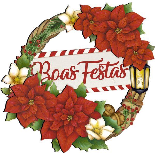 Placa-em-MDF-Natal-Litoarte-DHN-030-29x28cm-Guirlanda-Boas-Festas