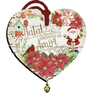 Placa-TAG-MDF-Decorativa-Natal-Litoarte-DHT5N-011-9x98cm-Coracao-com-Guizo
