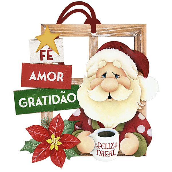Placa-TAG-MDF-Decorativa-Natal-Litoarte-DHT7N-001-14x142cm-Papai-Noel-Cafe