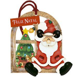 Placa-TAG-MDF-Decorativa-Natal-Litoarte-DHT7N-002-142x135cm-Papai-Noel-Pendurado