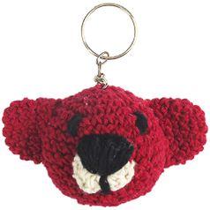 Chaveiro-de-Croche-Urso-8x5cm-Vermelho---Palacio-da-Arte