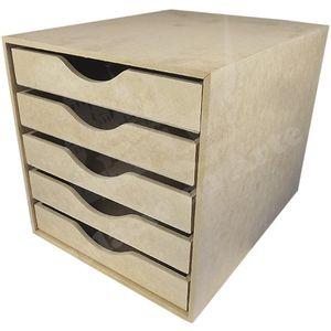 Organizador-de-Mesa-para-Papel-Sulfite-em-MDF-5-Gavetas-325x25x255cm---Palacio-da-Arte