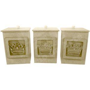Pote-3D-em-MDF-Coroa-Romana-3-pecas-8x8x11cm---Palacio-da-Arte
