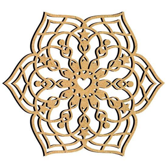 Mandala-em-MDF-30x275cm-MRL-093G-Moderna-6-Pontas---Palacio-da-Arte