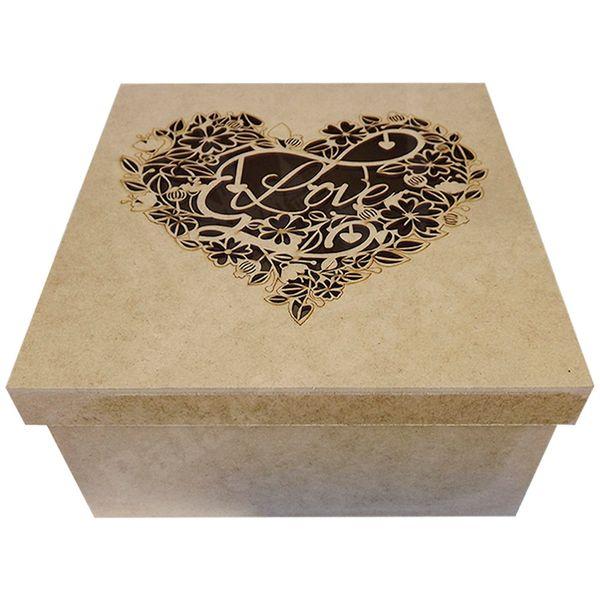 Caixa-Tampa-de-Sapato-em-MDF-Quadrada-20x20x10cm-Love-Coracao---Palacio-da-Arte
