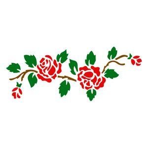 Stencil-Acrilex-33x14-1181-Rosas-1-Floral