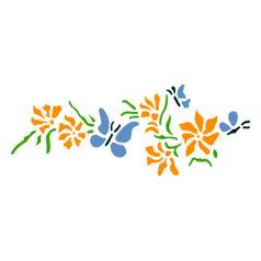Stencil-Acrilex-33x14-1186-Borboletas-e-Flores