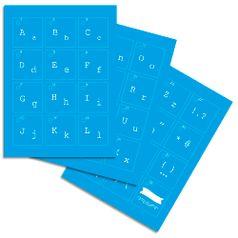 Kit-Stencil-Mini-Litoarte-com-38-pecas-STMI2-003-Alfabeto-Maquina-de-Escrever