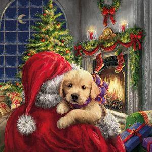 Guardanapo-de-Papel-para-Decoupage-Natal-Ambiente-Luxury-33312020-2-unidades-Papai-Noel-e-Cachorro